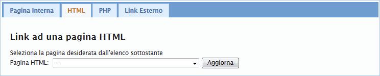Link a una pagina html