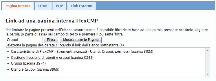 Link a una pagina interna