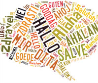 Comunicazione multi lingua: lingue occidentali, russo, cinese...