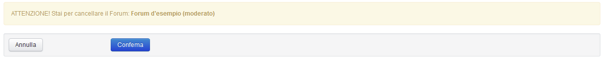 Conferma cancellazione forum