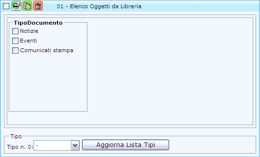 """Oggetto """"Elenco oggetti da Libreria"""""""