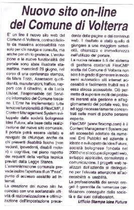 Immagine dell'Articolo da La Spalletta del 1 Luglio 2005