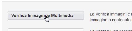 Pulsante per accedere alla verifica Immagini e Multimedia
