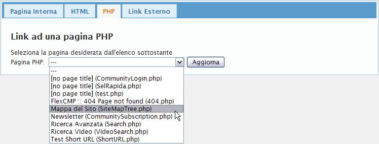Link a una pagina php
