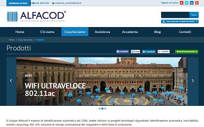 Pagina prodotti Alfacod